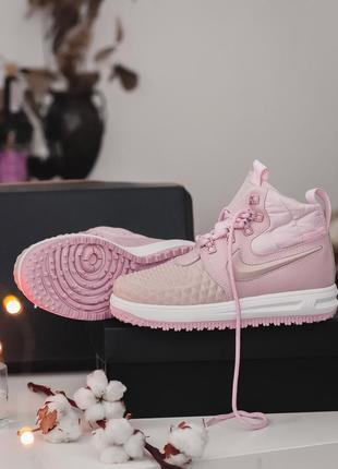 Nike lunar force 1 duckboot pink женские демисезонные кроссовк...