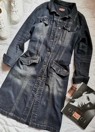 Джинсовый плащ тренч от gloria jeans