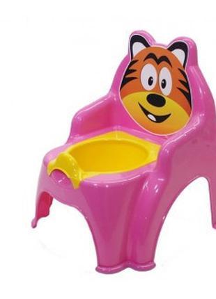 Детский горшок №1 013317/01 со сьемной крышкой ( рожевий, арт....