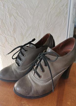 Ботильоны, туфли натуральная кожа