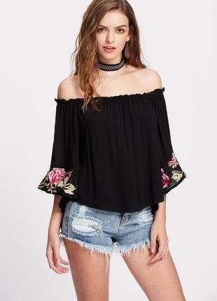 Блуза c вышивкой f&f