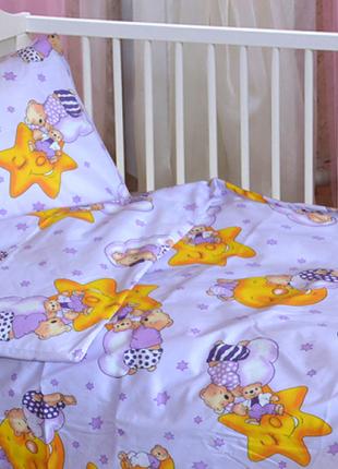 набор постели в кроватку