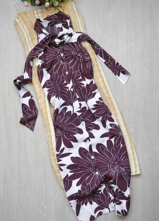 Женственное платье рубашка без рукавов с завязкой на воротнике...