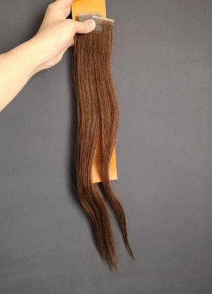 Натуральные волосы реми на липучках длина 50 см 30+3 штуки