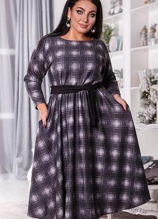 Шикарное теплое платье ангора большие размеры