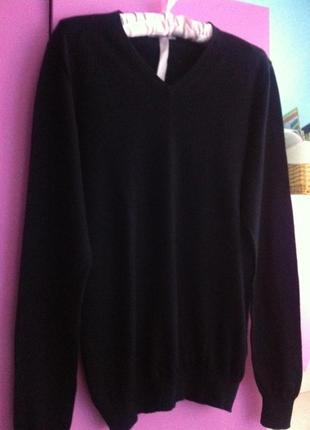 Теплый пуловер. кофта 100% шерсть мериноса