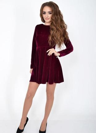 Нарядное вечернее платье велюр