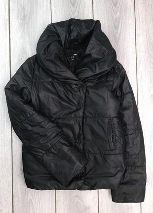 🔥акция 3=5🔥h&m куртка демисезонная чёрная зефирка s / m с объе...