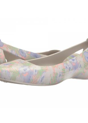 Балетки Crocs Sienna Graphic Flat Pink 41р (W10 - 270 мм)