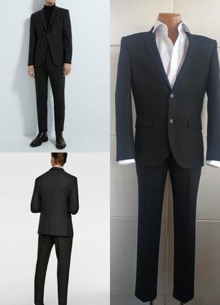 Деловой мужской костюм next базового черного цвета из качестве...
