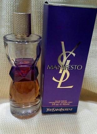 Парфюмированная вода yves saint laurent manifesto, пробник 10 мл