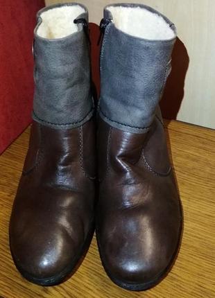 Кожаные зимние ботинки, цена снижена!!!
