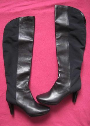 Mascaro (41) кожаные ботфорты сапоги женские