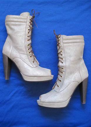 Patrizia pepe (40) кожаные женские летние ботинки
