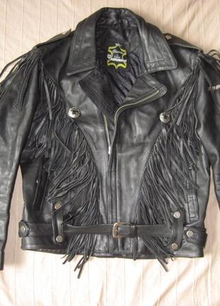 Harro (56) кожаная байкерская куртка косуха мужская