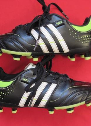 Adidas 11nova trx fg j (32) кожаные бутсы копочки детские