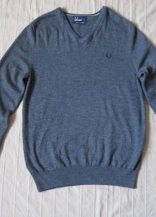 Fred perry (m) свитер джемпер кофта мужская