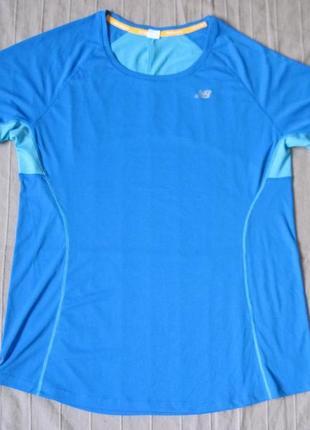 New balance (l) спортивная футболка беговая женская