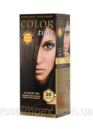 Стойкая краска для волос Color Time тон 20 Шоколад