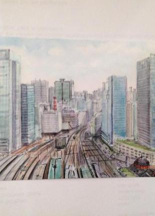 Токио. Япония. Коллекционная, редкая, почтовая открытка из Токио.