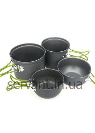 Набор туристической посуды Cooking Set, 4 предмета