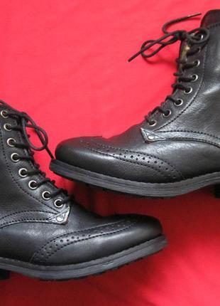 Pepe jeans london (37, 23,5 см) кожаные ботинки женские
