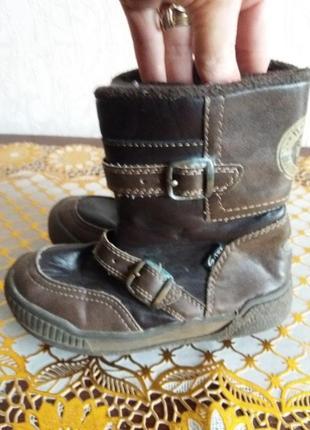 Коричневые брендовые сапоги 26р lupilu