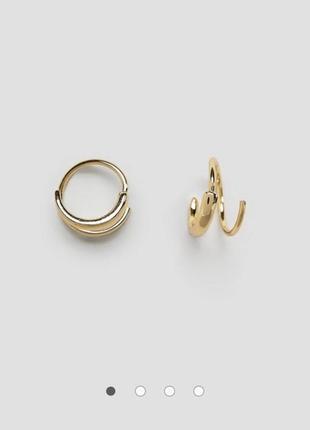 Серьги-кольца в виде пружины