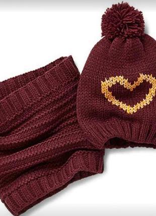 Яркий вязаный комплект шапка+снуд для вашей девочки от tcm tch...