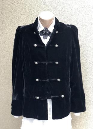 Чёрный,бархатный,велюровый жакет,пиджак,большой размкр