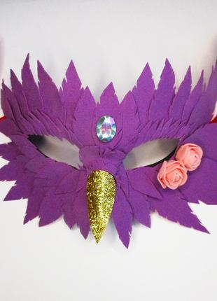 Новогодняя карнавальная маска волшебной птицы