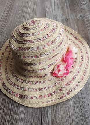 Шляпа панама соломенная primark 2-4г
