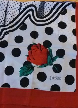 Шовковий брендовий платок loredano