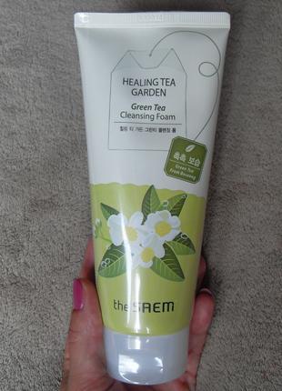 Пенка для умывания The Saem healing tea garden cleansing foam