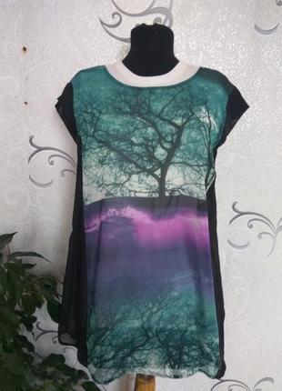Женская шифоновая блузка с удлиненной спинкой george