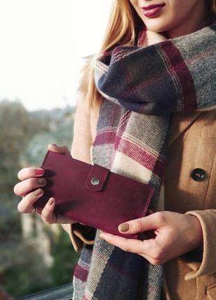 Кожаный женский кошелек портмоне органайзер miros