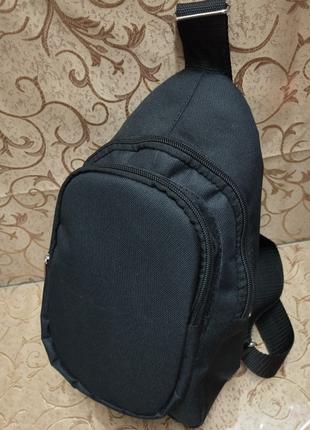 Сумка через плечо черная, слинг, сумка на плечо, мужская сумка