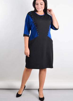 Размеры 50-64! платье с карманами хэйзи электрик, большой размер!