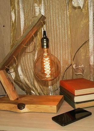 Настольная лампа ручной работы в стиле Лофт