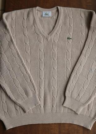 Мужской шерстяной свитер lacoste французского производства