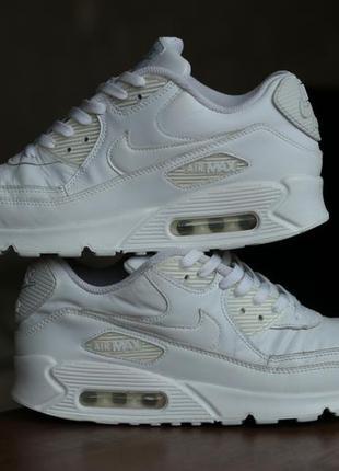 Кожаные кроссовки nike air max 90 leather