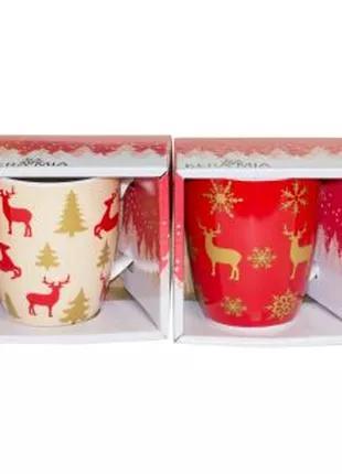 Чашка керамическая Олени