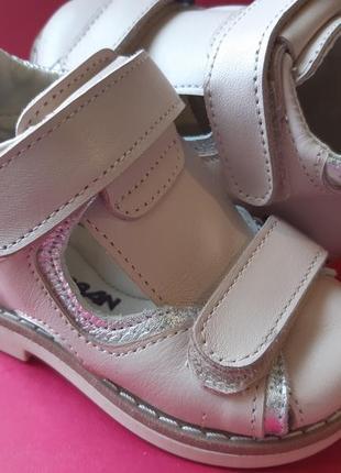 Ортопедические кожаные босоножки для девочки