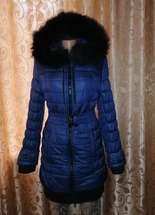 ✨✨✨теплая зимняя удлиненная женская куртка, пуховик с капюшоно...