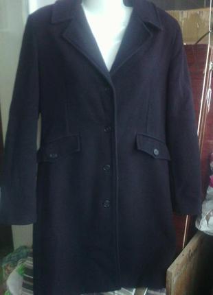 Черное шерстяное пальто 80% шерсть в состоянии нового евро 40 ...