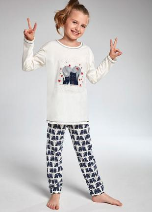 Пижама на девочку с кошками cornette