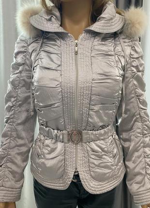 Куртка с капюшоном с натуральным мехом