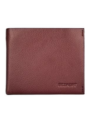 Мужской кожаный кошелек sezfert на магните с зажимом коричневый