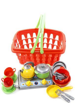 Детская игровая кухня с корзиной и посудкой Галинка 10