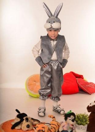 Детский новогодний карнавальный костюм Зайчик